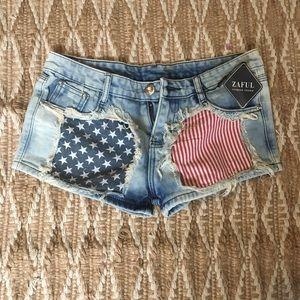 American flag shorts